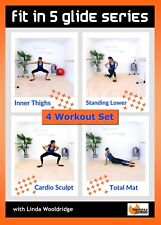 Gliding Disc Gliders Workout DVD Barlates Body Blitz FIT IN 5 GLIDE 4 Workouts