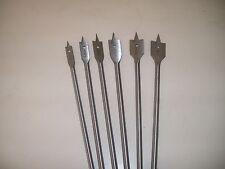 "6 Piece 12"" Industrial Wood Spade Drill Bit Set"