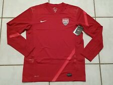 NWT NIKE USA National Team RED  Long Sleeve Soccer Training Jersey Men's Large
