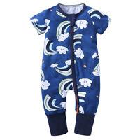 Newborn Infant Baby Boys Romper Bodysuit Jumpsuit Outfits Sunsuit Clothes 002