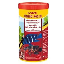 Sera Cichlid Red XL 370g 1000ml Color Pellets For Larger Carnivorous Fish