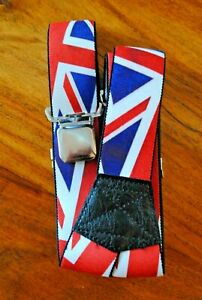 GB FLAG BRACES/SUSPENDERS ADULT NEW