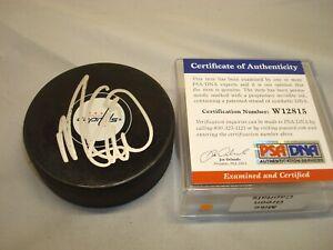 Mike Green Signed Washington Capitals Hockey Puck Autographed PSA/DNA COA 1A