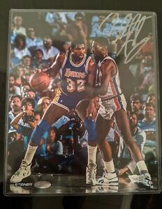 DENNIS RODMAN Pistons Fanatics Authentic Autographed 8x10 Photo Rodman vs Magic