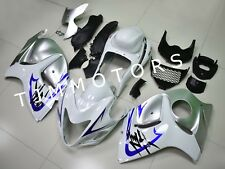For Hayabusa GSXR1300 08-17 ABS Injection Mold Bodywork Fairing Kit White Silver