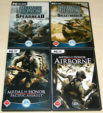 4 x MEDAL OF HONOR - ALLIED ASSAULT BREAKTHROUGH SPEARHEAD AIRBORNE PACIFIC - PC