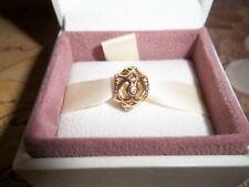 Genuine Pandora 14ct Gold & Diamond Openwork Heart Charm 750466D G585 ALE