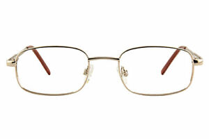Saturn-C Gold Rectangular Metal Glasses Including Prescription Lenses 50-20-140