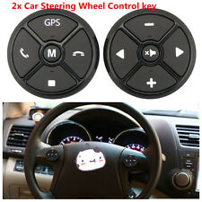 2Pcs Car SUV Steering Wheel GPS DVD Control Wireless Remote Button Key Universal