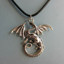 "Dragon/Winged Serpent Minimalist Charm Necklace;18"" Lg. jewelry by fierce"