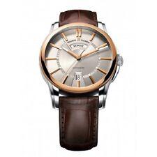 Men's Maurice Lacroix Pontos Date Automatic Leather Watch 18k Gold PT6158