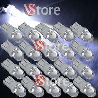 20 LED Lampade T10 BIANCO Lampadine Luci Per Targa e Posizione W5W