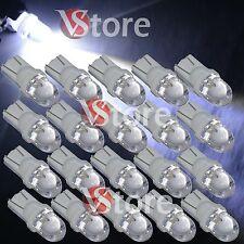 20 LED Lampade T10 BIANCO Lampadine Luci Per Targa e Posizione W5W Auto