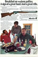 1981 Print Ad of Marlin 336 Deer Rifle venison patties recipe