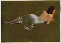 Vintage 1940s Fine Frederick Sands Brunner Pin-Up Print Elegant Miss America