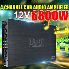 WUDI 6800W 4 Channel Car Amplifier Monoblock Subwoofer ClassAB Audio Stereo Bass