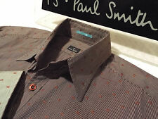"""PAUL SMITH Mens Shirt 🌍 Size S (CHEST 38"""") 🌎 RRP £95+ 📮 PATTERNED STRIPES"""
