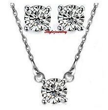 925 Sterling Silver Brilliant Cut Diamond Set Made With Swarovski Crystal N25X51