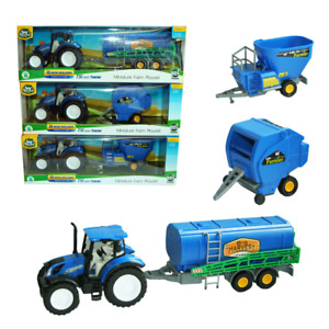 New Holland T5.120 Tractor with Machinery 1: 32, Blue