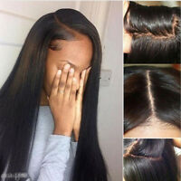 "17-31""  Hair piece Women 100% Real Brazilian Soft Human Hair Wigs Extensions"