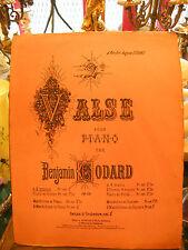 Partitura Vals para Piano Benjamin Godard