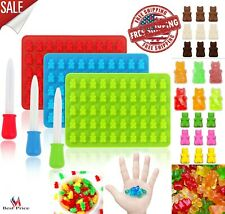 Gummy Bear Mold Candy Making Supplies Ice Chocolate Maker Silicone Molds Kit 3