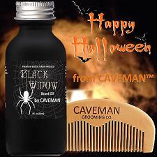 Hand Crafted Caveman® Beard Oil beard conditioner FREE Wooden Beard Comb Caveman