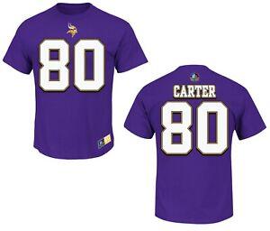 NFL T-Shirt Minnesota Vikings Chris Carter Hof Hall Fame Jersey Football
