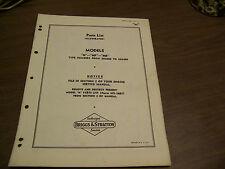 11050 Briggs & Stratton Illustrated parts list N NP NR