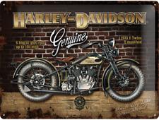 TARGHETTA in Lamiera - 23124 HARLEY DAVIDSON Brick Wall - 30 x 40 CM-NUOVO