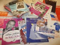 Estate Lot of 94 Vintage Pieces of Sheet Music