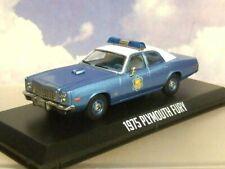 1/43 GREENLIGHT 1975 PLYMOUTH FURY ARKANSAS POLICE CAR SMOKEY AND THE BANDIT I 1