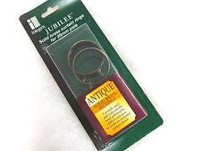 6 Integra Jubilee Ottone antico tenda asta anelli per 25mm aste int d. 40mm
