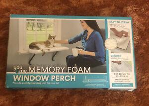 You & Me Fleece Memory Foam Kitty Sill Window Cat Perch Up To 35 Pounds Open Box