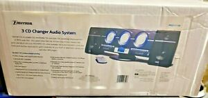 New Emerson Triple-Play Linear 3 Disc AM/FM Stereo CD Changer MS3111M W/Remote