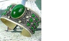 China tibet Silver Cuff Jade bracelet