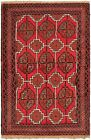 """Vintage Hand-Knotted Carpet 3'3"""" x 5'3"""" Traditional Oriental Wool Area Rug"""