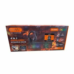 KIT PER GAMING STARTER COMBO 4 IN 1 MOUSE, CUFFIE, TASTIERA, TAPPETINO PER MOUSE