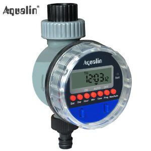 Automatic LCD Display Watering Timer Electronic Home Garden Ball Valve Timer