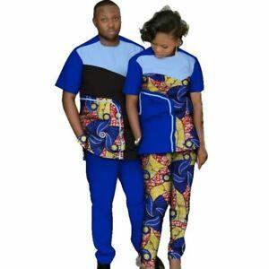 African Couples Dress Ankara Wax Set for Man and V11658