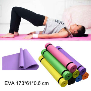 6mm EVA Extra Thick Durable Fitness Exercise Yoga Mat Non-Slip Foam Interlocking