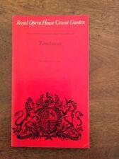 Royal Opera House Covent Garden Programme Tannhauser Thursday 6 March 1975