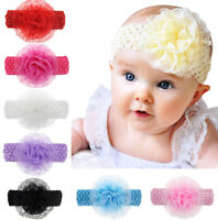 Baby Girl DIY Headband Lace Elastic Hair Band Hairband Headdress Headwear BDSE