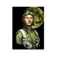 1/10 BUST ''NIGHT WITCHES'' Female Soviet Pilot Figures Resin Kit Unpainted