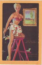 "Mutoscope Pin Up Card - ""How Do You Like My Frame?"" Zoe Mozert"