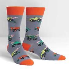Monster Trucks Dress Crew Socks New Men Size 7-13 Sock It To Me Motor Fashion