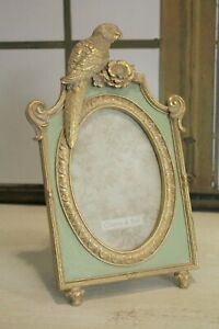 Clayre & Eef Picture Frame Tropical Exotic Parrot Gold Antique Green 27cm New
