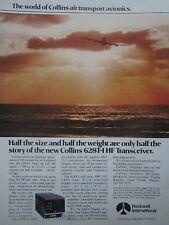 2/1977 PUB ROCKWELL COLLINS AVIONICS 628T-1 HF TRANSCEIVER ORIGINAL AD