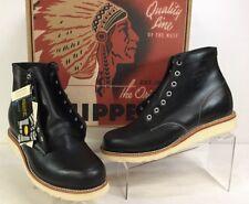 "Chippewa Original 6"" Black Whirlwind Leather Plain Toe Boot Men's Sz 9D"