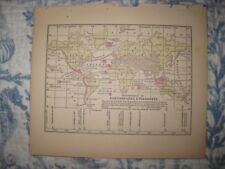 ANTIQUE 1858 WORLD EARTHQUAKE VOLCANO MOUNTAIN MAP ASIA UNITED STATES SUPERB NR